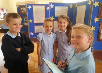 HSB Meadows pupils, proud of their exhibition