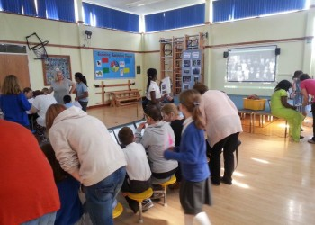 HSB Parents and pupils work together at the Holmer Lake Museum