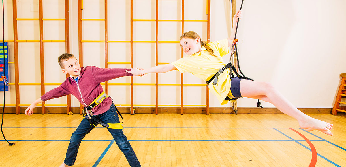 Aerial Dance at Northleigh Primary School – Arts Connect