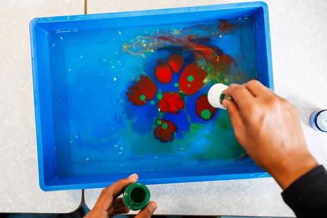 oil in tray