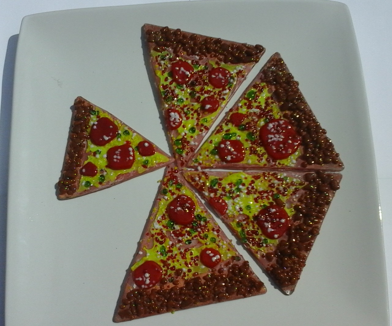 Glass pizza